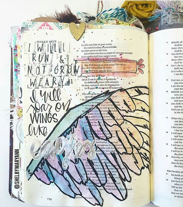 Really love this page  From @shelbymaryann  #biblejournaling #biblejournalingcommunity #bibleart #art #bibleverse #journaling #scripting #scripture #imprintedheart #soulscripts #shepaintstruth #shereadstruth #illustratedfaith #watercolor #craftspoure