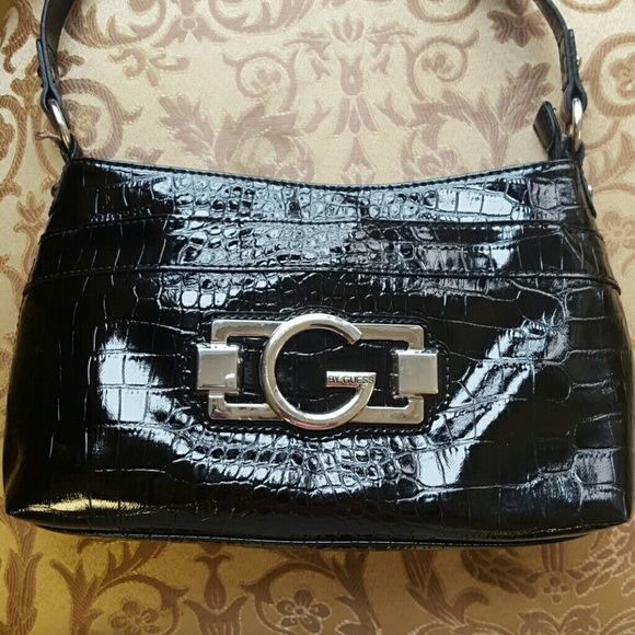 Bag Guess Purse Black Patent Leather