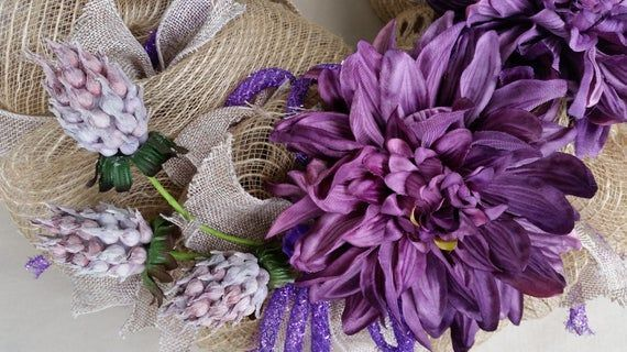 Photo of Spring burlap wreath rustic tan burlap wreath rustic spring burlap wreath burlap and magnolia…