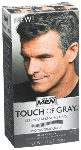 Just For Men Touch Of Gray, Black-Gray, 1 Application (Pack of 3 ...