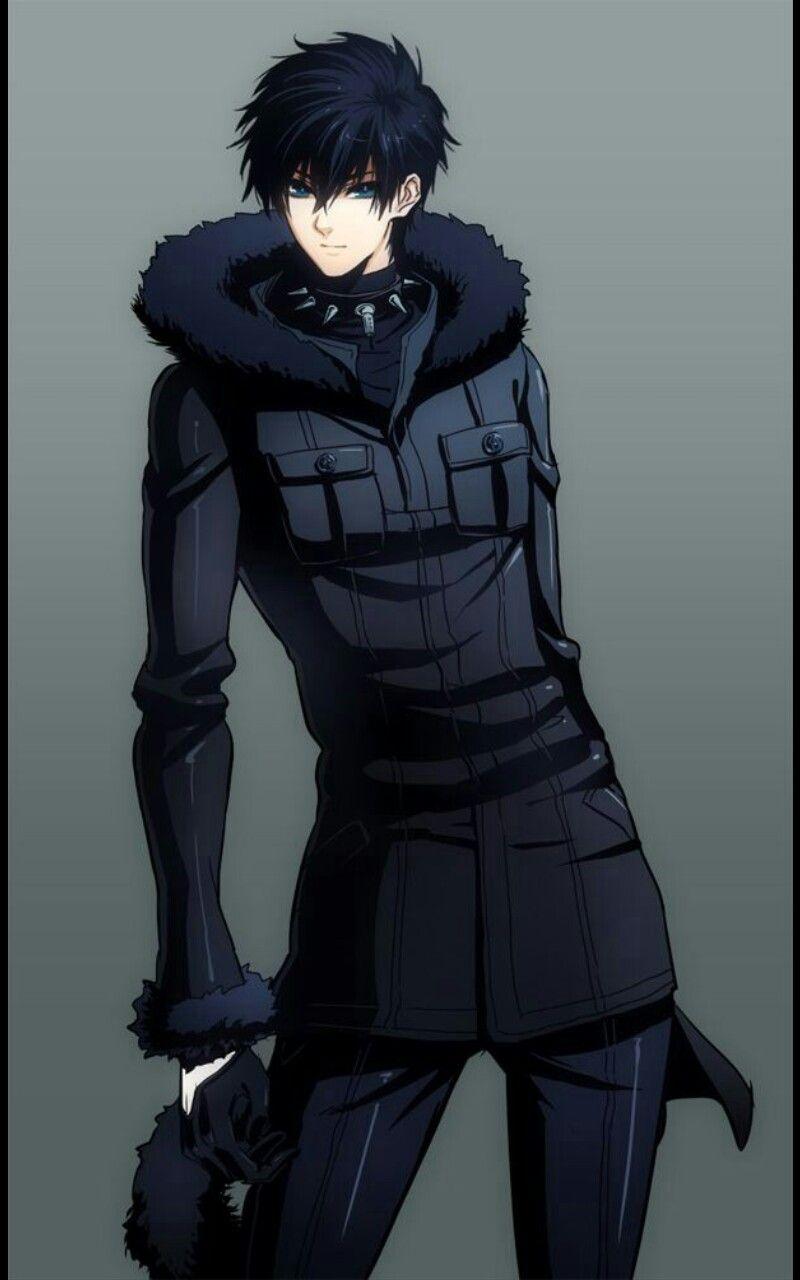 Hot Anime Guy Black Short Hair Blue Eyes Dark Clothes Cool Anime Guys Anime Guys Anime Guys With Glasses
