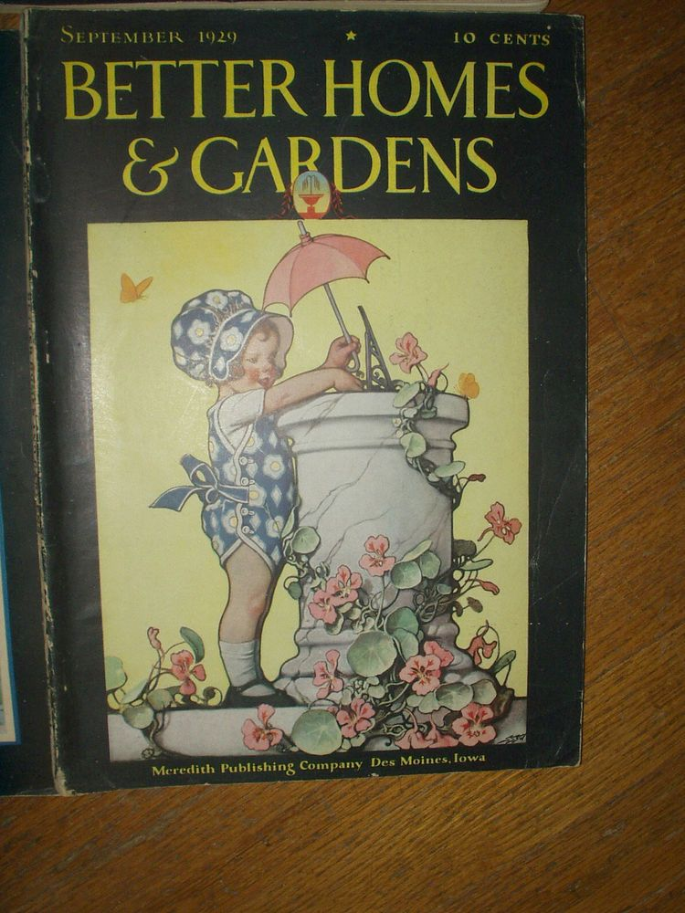 Better Homes And Gardens - October, 1934 Back Issue | Gardens