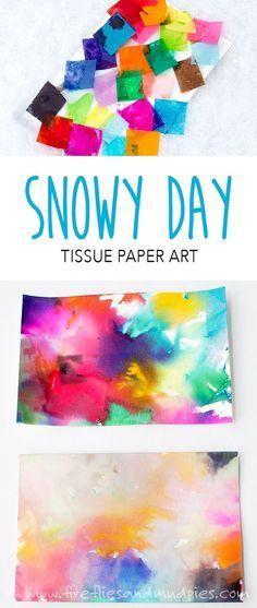 use snow to make colorful process art preschool crafts pinterest
