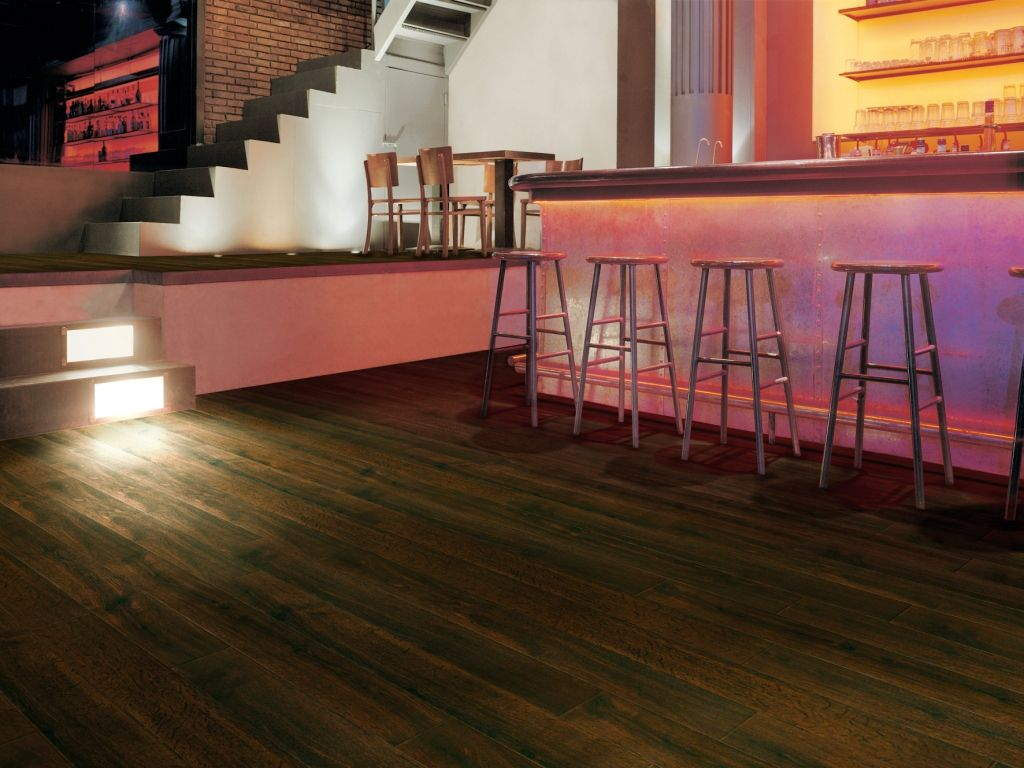 Modern Bar With Bevel Line Flooring In Mahogany 1978 Modern Bar Vinyl Flooring Modern
