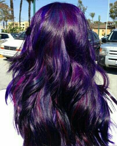 Purple with pink highlights hair styles color pinterest purple with pink highlights shades of purpledark purple hair pmusecretfo Image collections