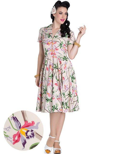 HELL BUNNY Paradise Hawaii Style Kleid | Rockabilly Dresses ...