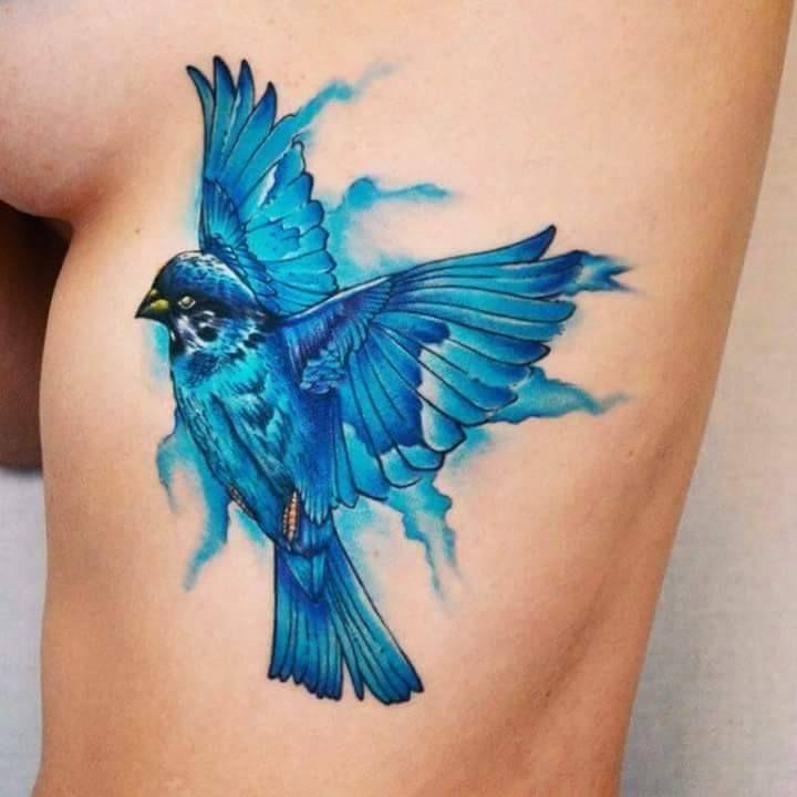 There S A Bluebird In My Heart Pretty Tattoos Bluebird Tattoo Bluebird Watercolor