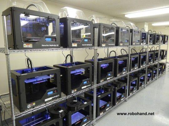 3DPrinter Farm for RoboHands