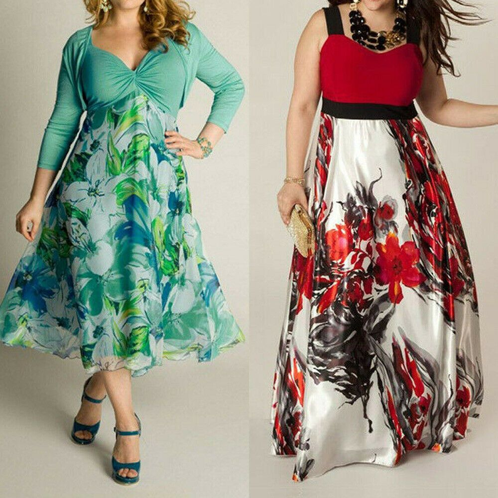 Focusnorm Women S Summer Boho Floral Long Maxi Dress Party Beach Sundress Plus Size L 3xl Walmart Com Long Maxi Dress Maxi Dress Party Maxi Dress Evening [ 1000 x 1000 Pixel ]