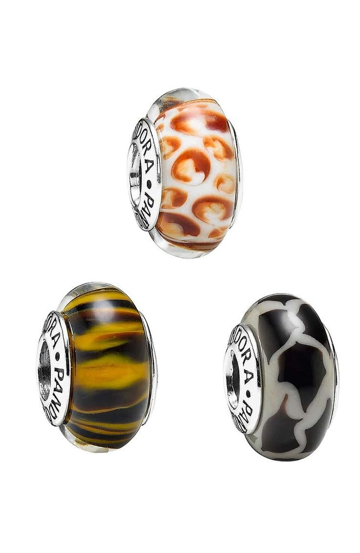 pandora giraffe glass bead