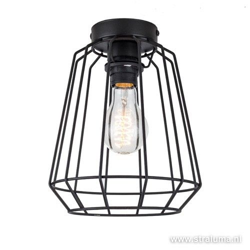 zwarte plafondlamp draad hal slaapkamer