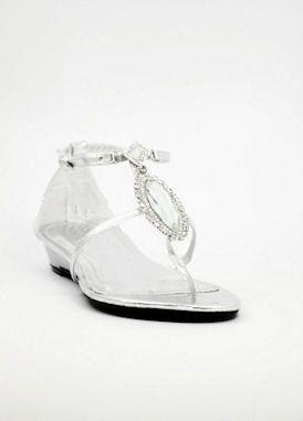 Formal Flat Silver Sandals For Wedding Flat Silver