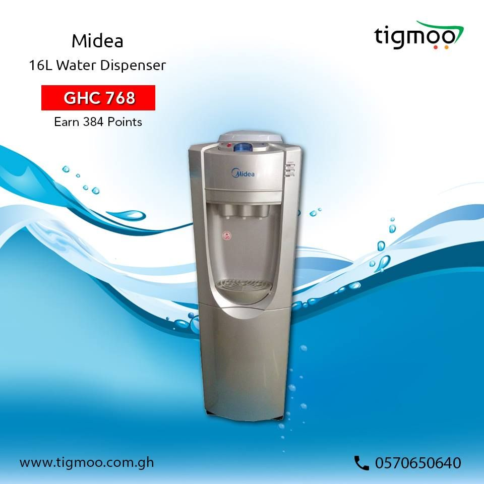 Midea 16L #WaterDispenser is available at the price of GHC 768 Also ...