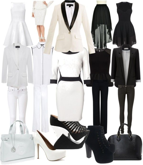 Black And White Outfits: Black & White Party Attire
