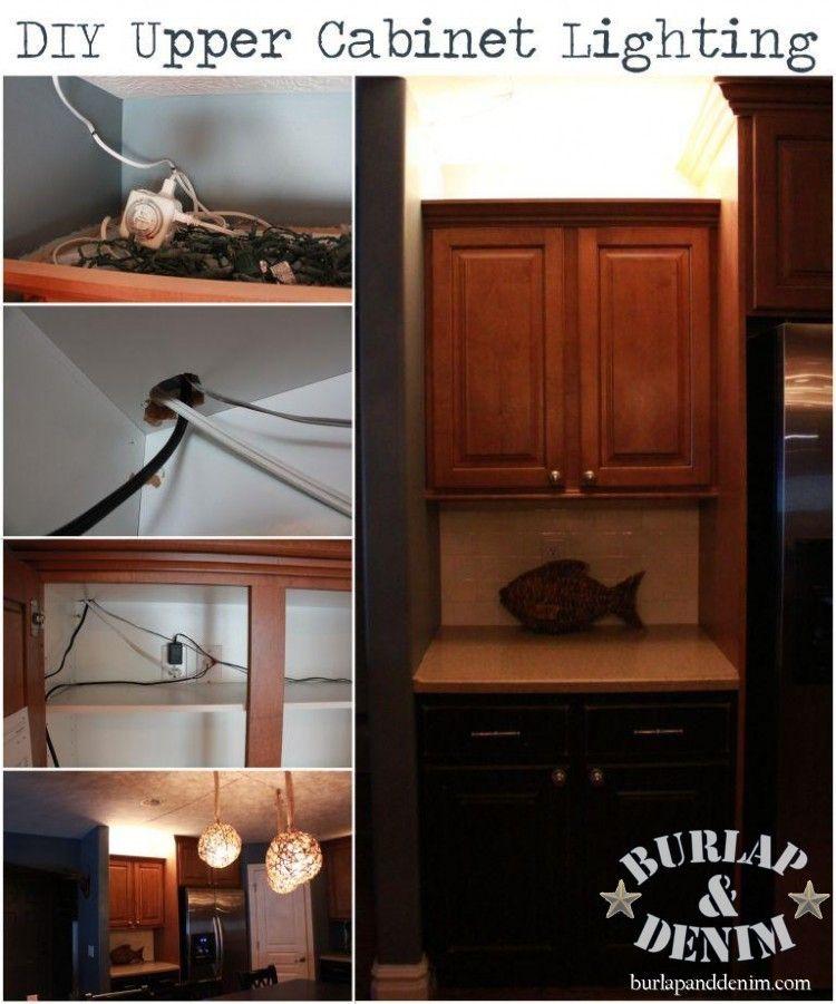 DIY Upper Cabinet Lighting