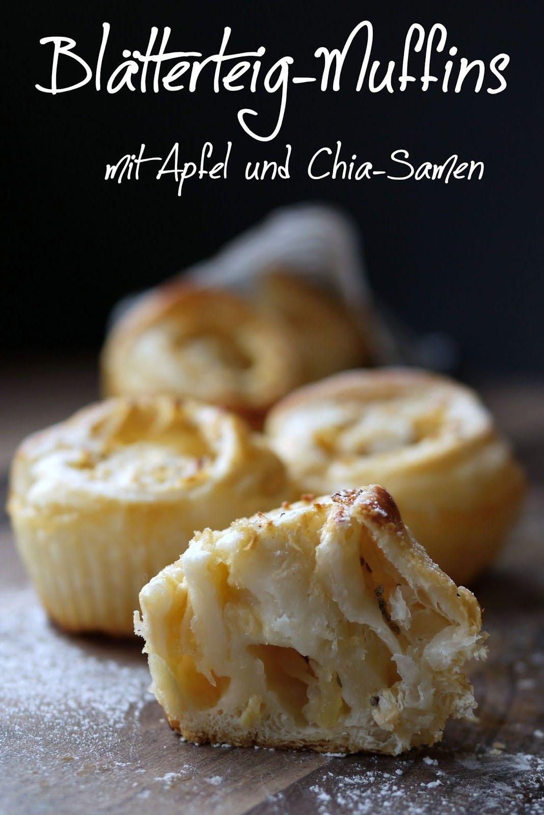 Blatterteig Muffins Mit Apfel Chiasamen Lecker Und Gesund Teig