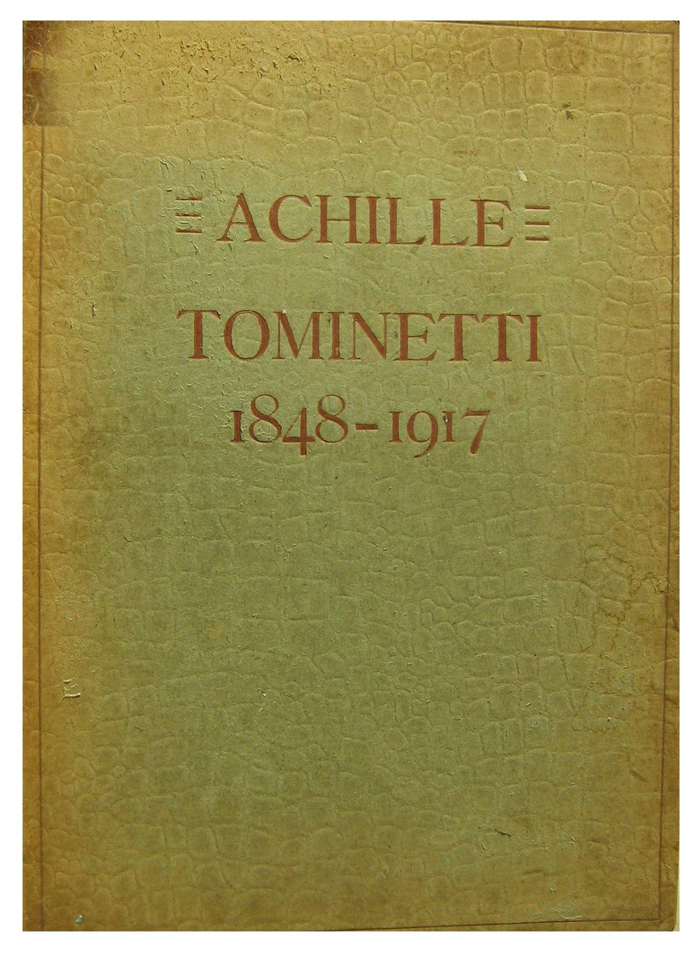 Achille Tominetti 1956 3 marzo testo Antonio Massara cura della ditta Stem Milano arti grafiche S. Abbondio Como