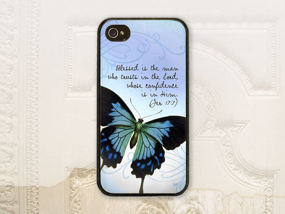 Christian Bible verse Jeremiah 17.7 cell phone by LilStinkerDesign, $17.99