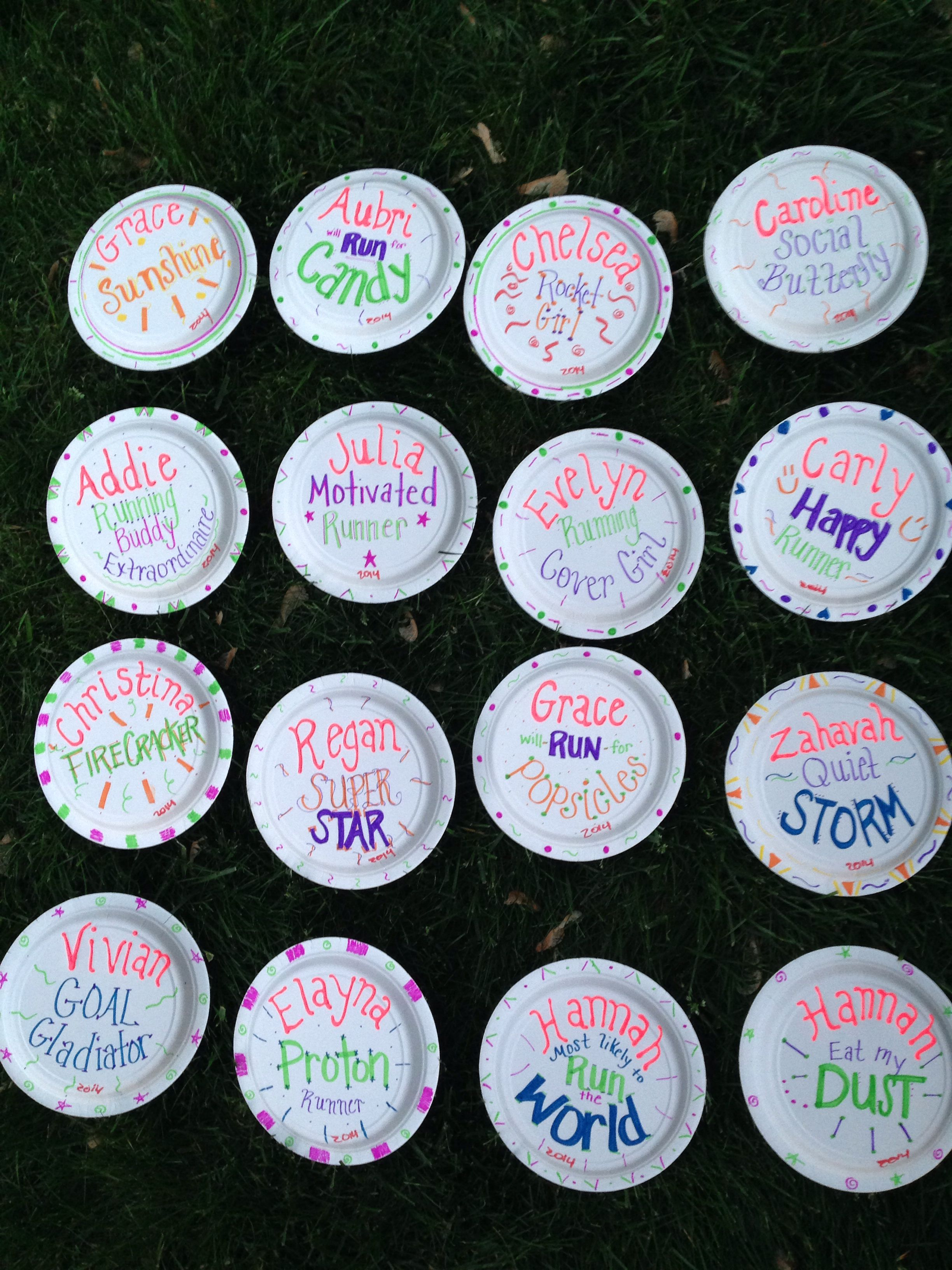 Gotr paper plate awards girls on the run pinterest paper plate awards girls and running for Cross country awards ideas