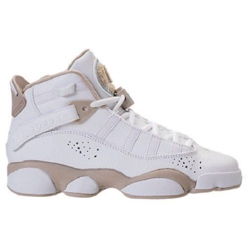new product 9dd8c 1b6bc Nike Jordan 6 Rings GS Basketball Shoes Youth Size 6 White Light Sand NEW  SALE!