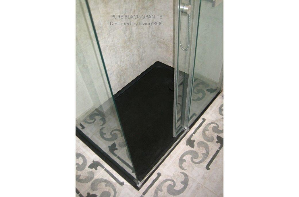 1400x900 Black Granite Shower Tray Bathroom Spacium Shadow Black Shower Granite Shower Black Granite