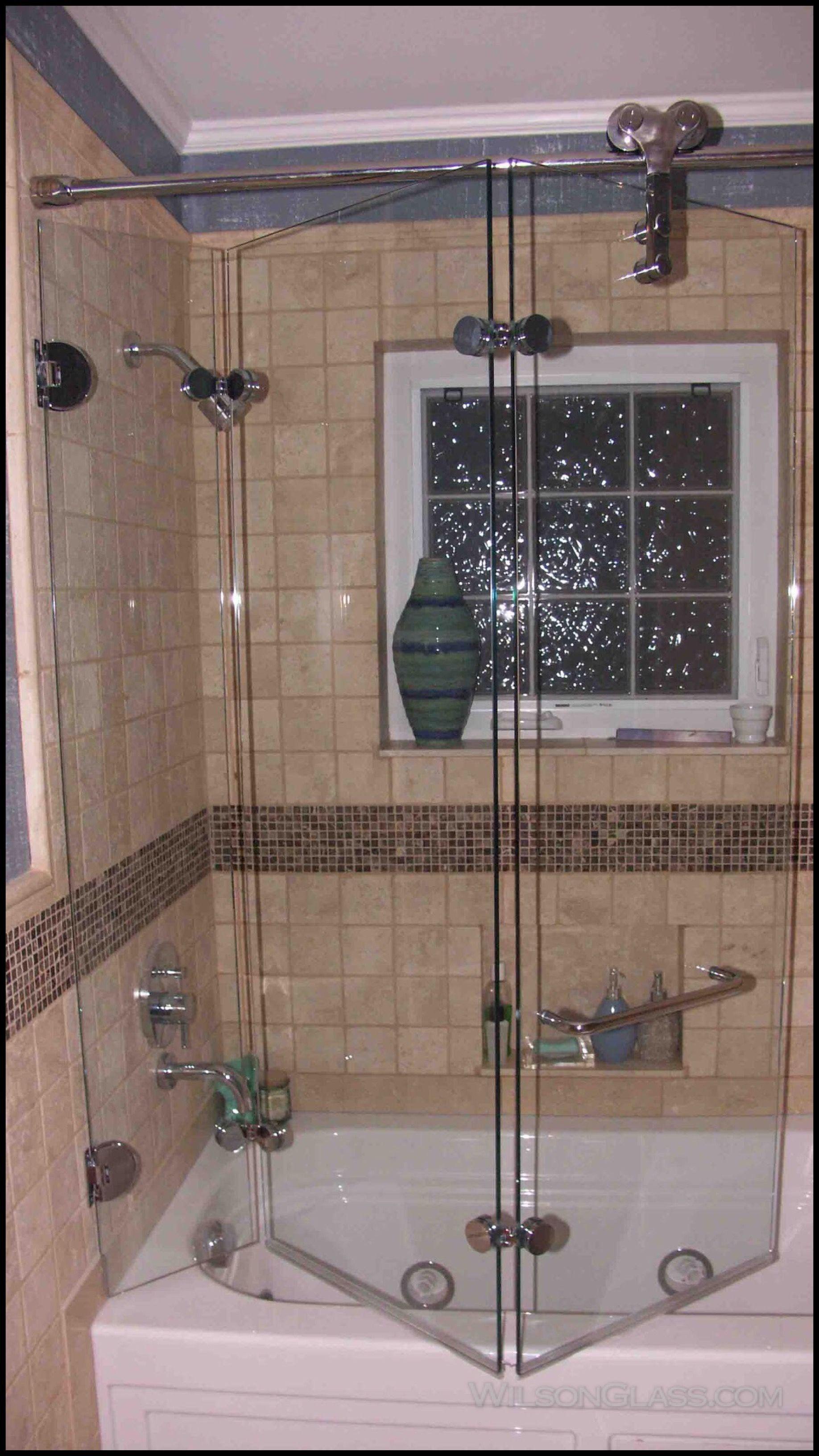 Diy Shower Door Ideas New Wilson Glass Tri Fold Bath Enclosure In 2020 Shower Doors Glass Shower Enclosures Tub Shower Doors