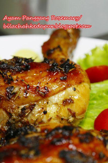 Ayam Panggang Rosemary Ayam Panggang Panggang Makanan