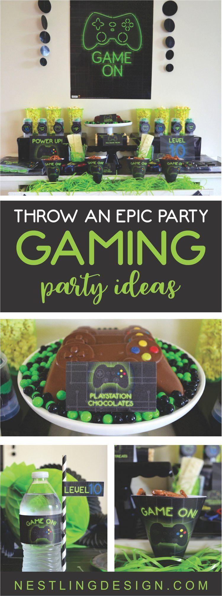 Epic Gaming Party Ideas | NestlingDesign.com # ...