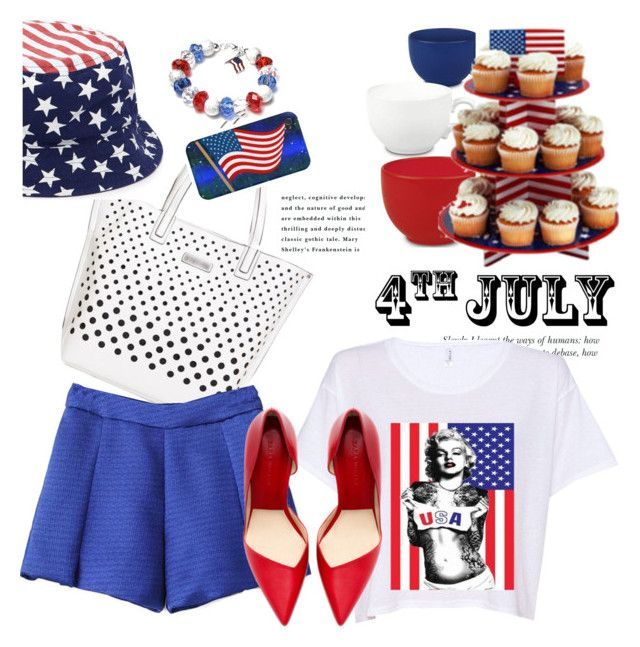 """Red, White and Blue Fashion Statement"" by janephoto ❤ liked on Polyvore featuring Forever 21, Waechtersbach and redwhiteandblue"
