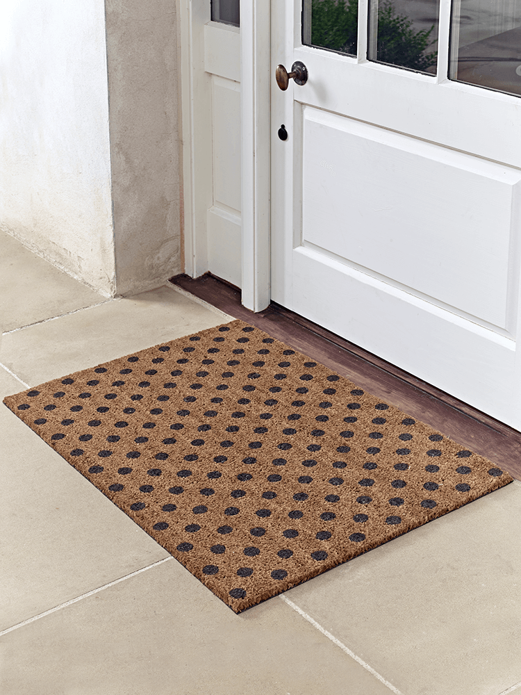 Our Extra Large Coir Doormat Has A Fun Dotty Pattern And Durable Rubber Back To Prevent Slipping Perfect For Welcoming Guests Into Your Home