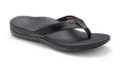 VIONIC Orthaheel Technology Women's Tide Sport Sandal (8 B(M) US, Black)