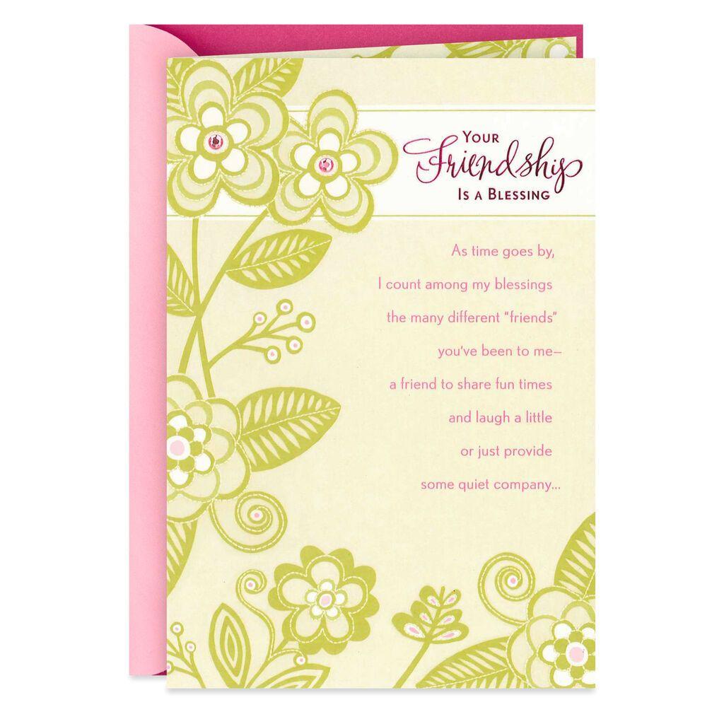 Friendship is a blessing birthday card in 2020 hallmark