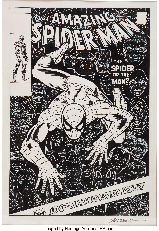 John Romita Sr The Amazing Spider Man 100 Cover Re