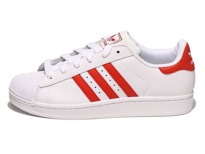 Adidas Superstar II Unisex Mens Womans Casual Shoes Shell Toe White Red  G43681 Classic Retro Trainers