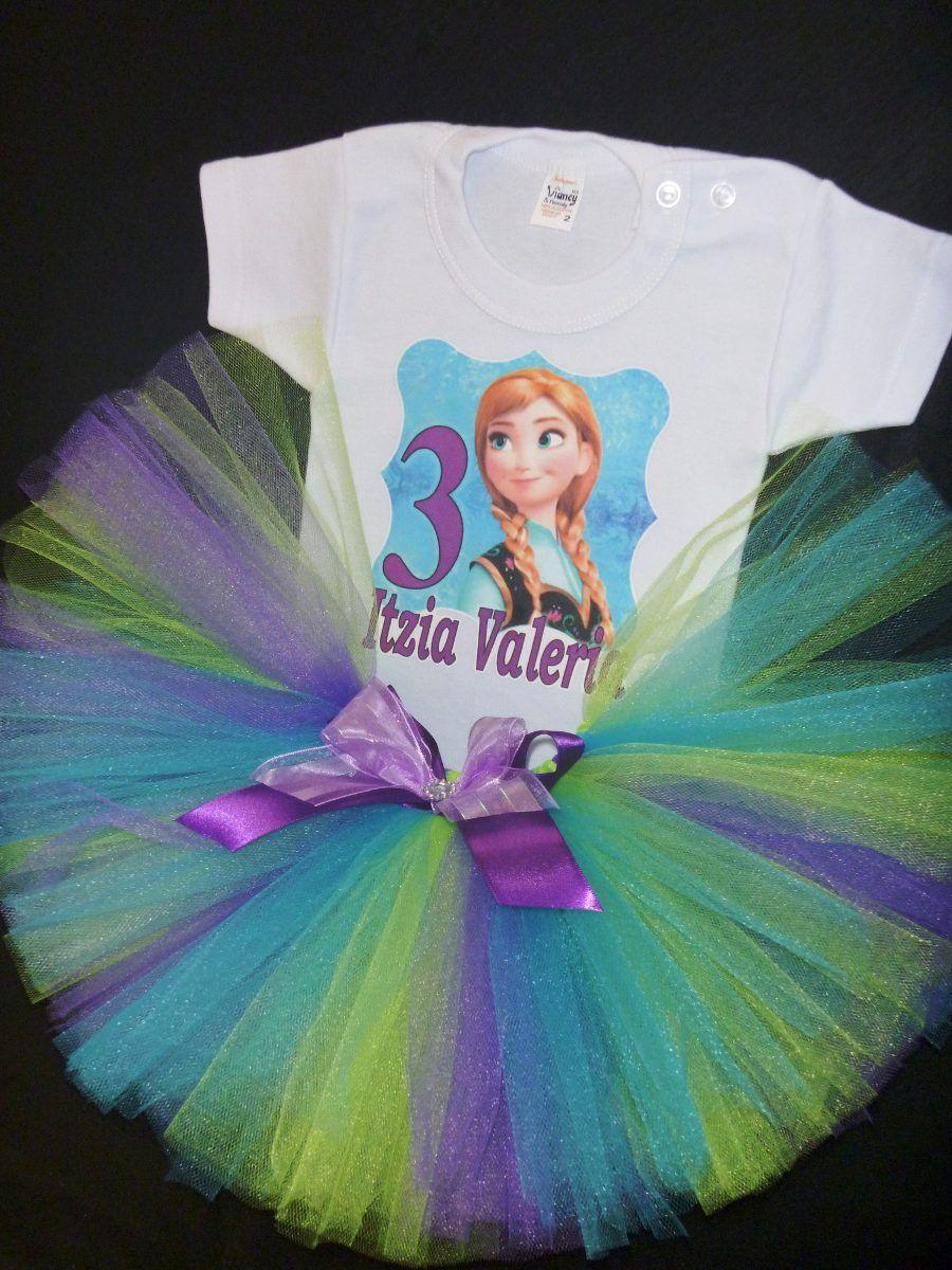 tutus playera disfraz tutu frozen bebé niña personalizada | vestido ...