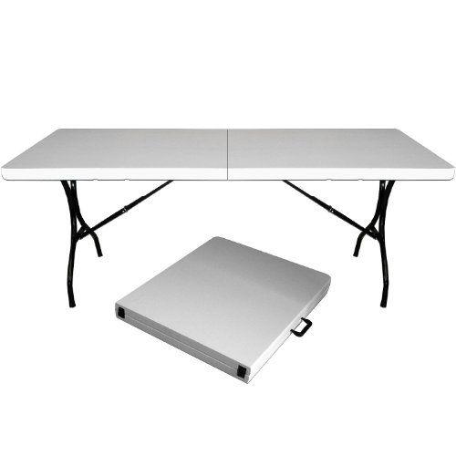 Campingtisch Gartentisch Klapptisch Falttisch Faltbarer Tisch Campingmöbel  Markttisch Flohmarkttisch Koffertisch 183x72x76cm Deuba
