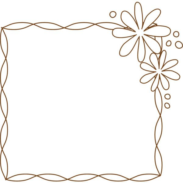 Flower Border Frame Liked On Polyvore Featuring Frames