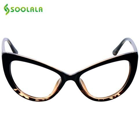 13f828254e SOOLALA Cat Eye Reading Glasses Women Men Oversized Reading Glasses +0.5  0.75 1.25 1.75 2.25