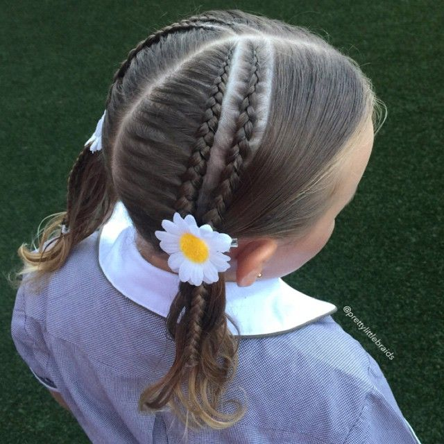 """""""A few followers requested I do cornrows, so here  is a cornrow and a lace braid with an unusual part. Reminder to one self, do not do cornrows on school…"""""""