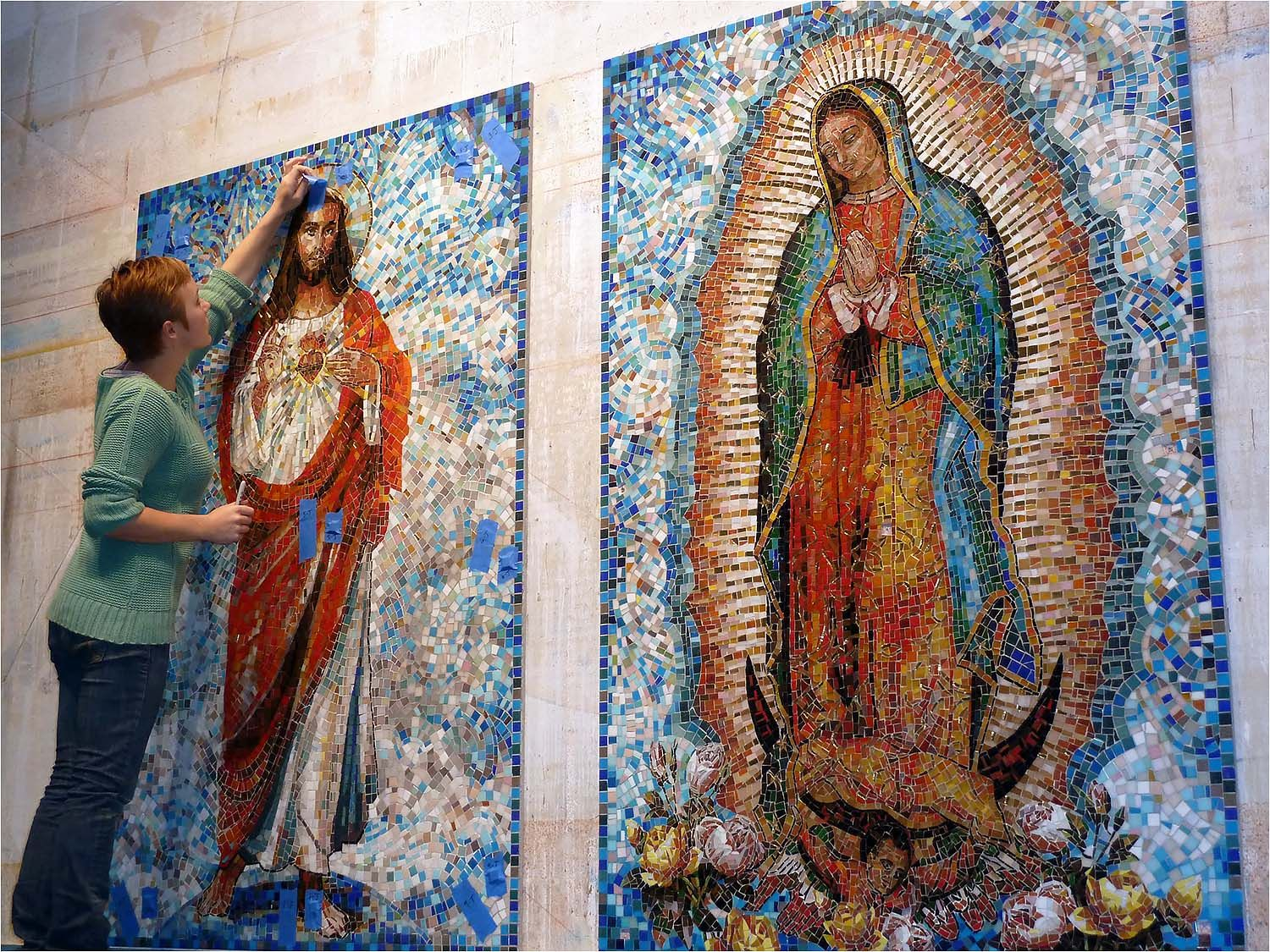 Mosaic art for the sacred heart church in san jose california mosaic art for the sacred heart church in san jose california iridescent glass tile dailygadgetfo Gallery