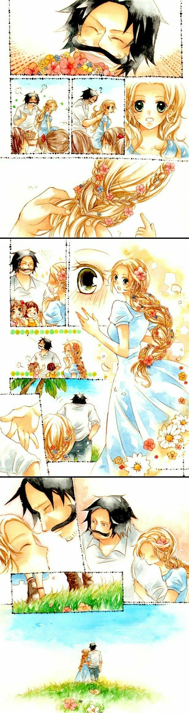 roger rouge couple cute comic flowers one piece one piece