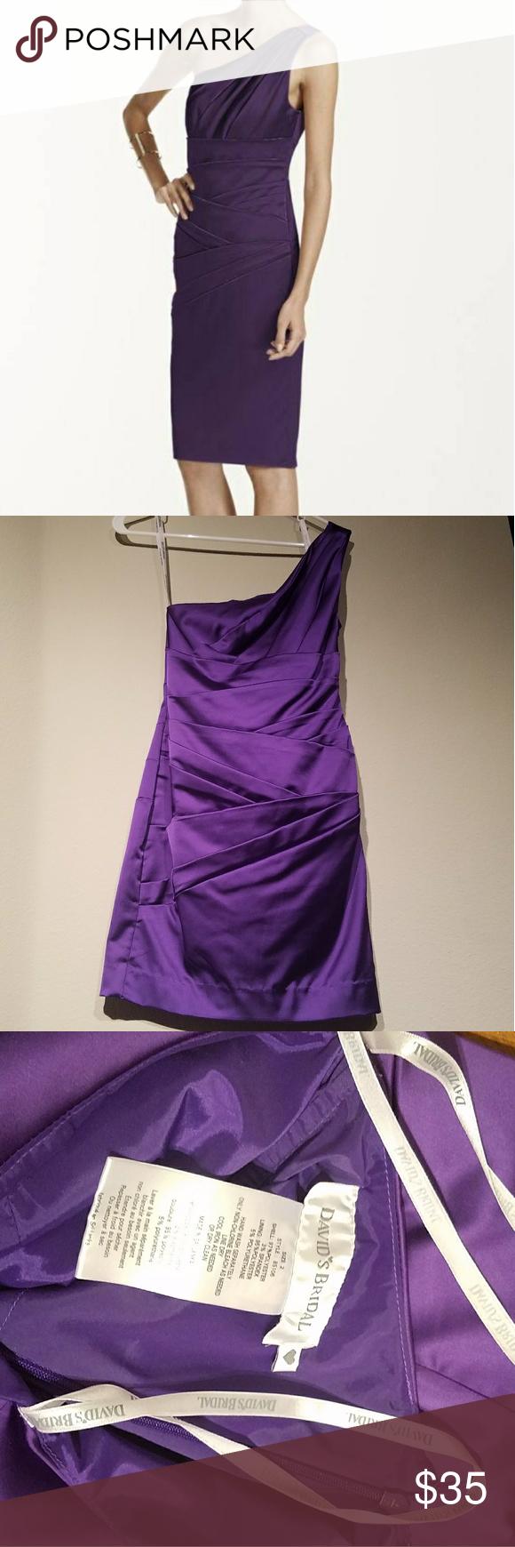 David\'s Bridal Purple Satin Dress