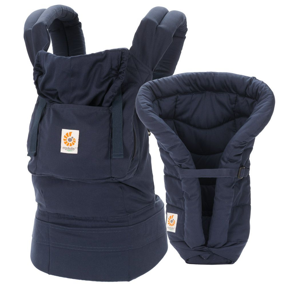 55d16649908 Ergobaby Organic Collection Bundle of Joy - Navy with Navy Infant Insert  (BCII12TOMNL)