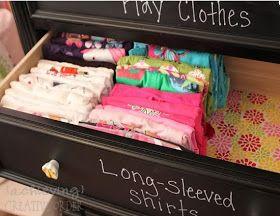Achieving Creative Order: Organizing my Kids' Dressers