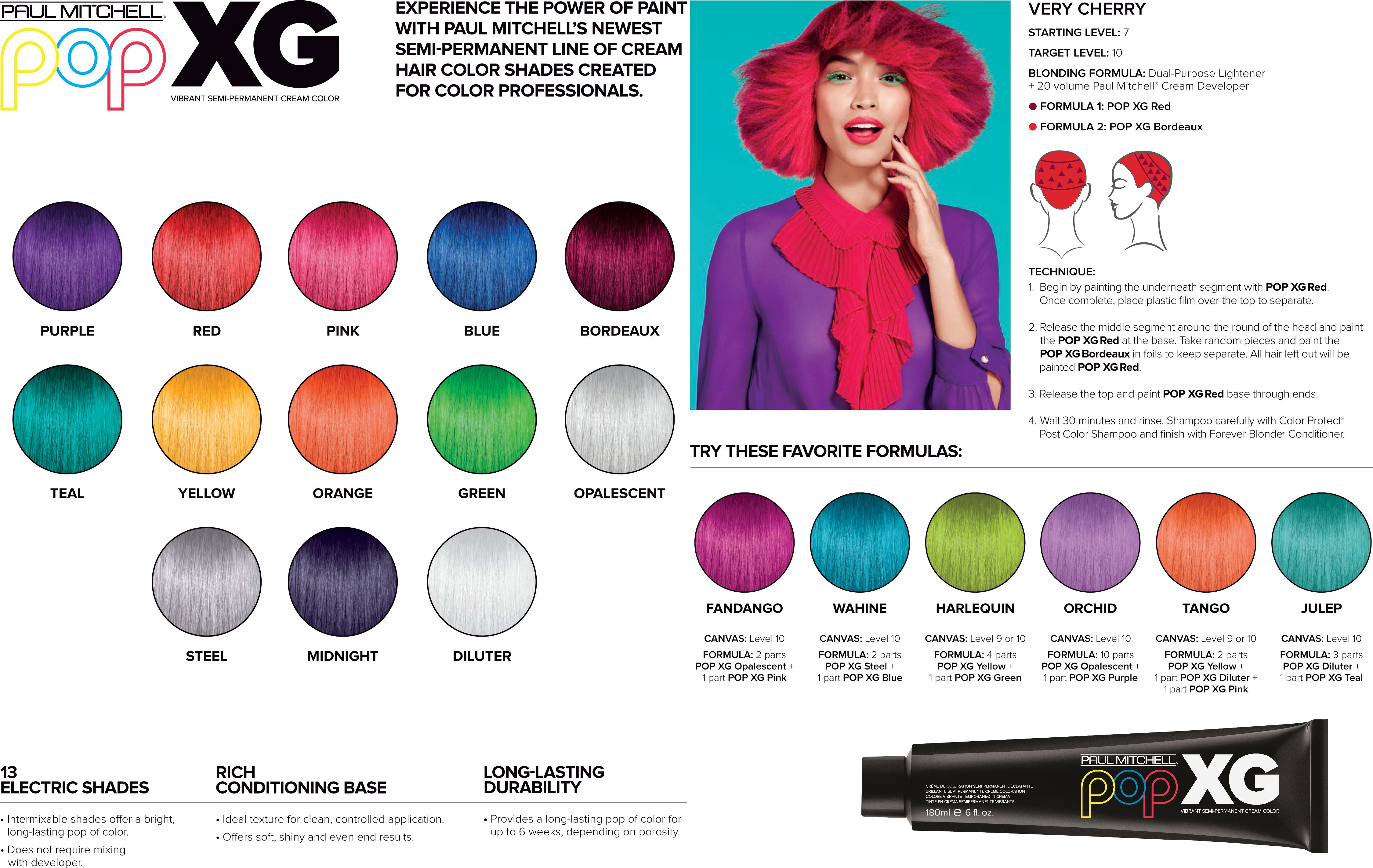 Paul Mitchell Pop Xg Color Chart Paul Mitchell Color Hair Color Chart Hair Color