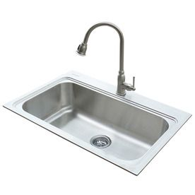 20 Gauge Single Basin Drop In Or Undermount Stainless Steel Kitchen Sink With Faucet Kitchen Sink Sizes Sink Sink Sizes