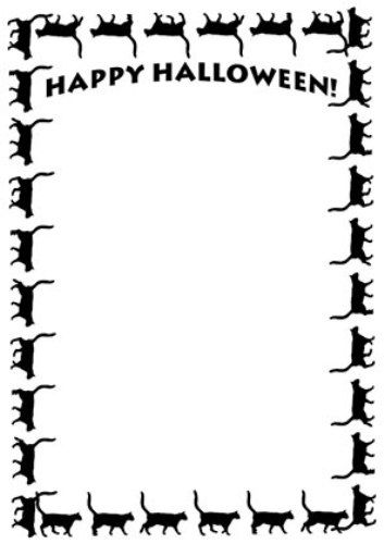 Halloween clip art borders free printable frames clipart black and ...