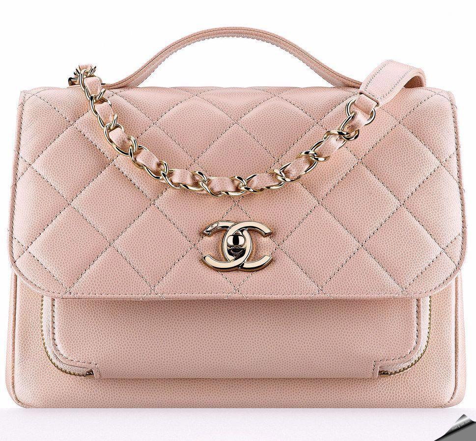 3adf550d5f21 Chanel Fall-Winter 2016 medium flap bag with handle.  Chanelhandbags ...