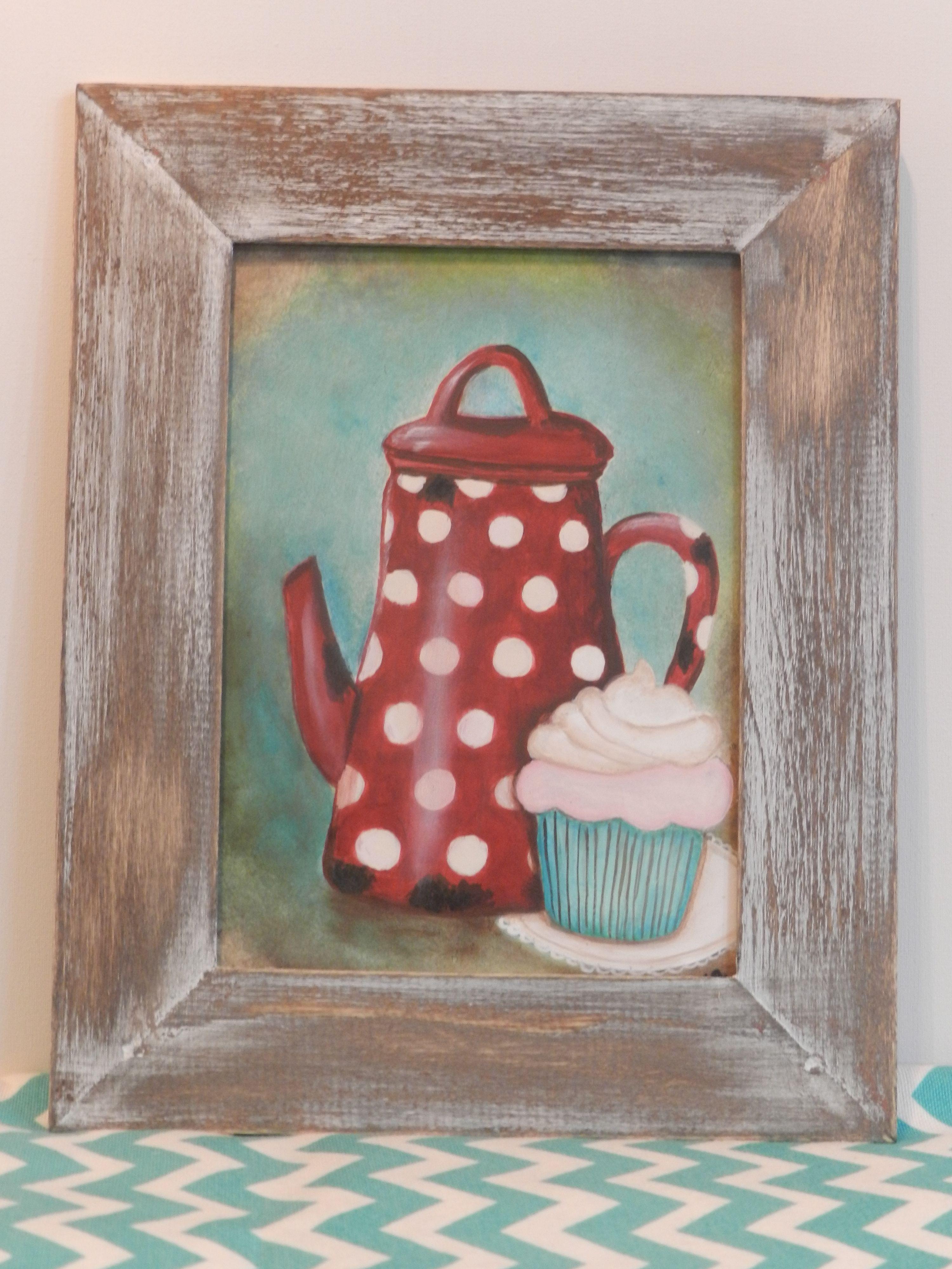 Cuadro estilo vintage para tu cocina 180 en http for Ideas para pintar cuadros