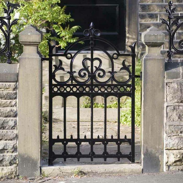 gartentüren metall design gartenzaun elegant Garten Pinterest